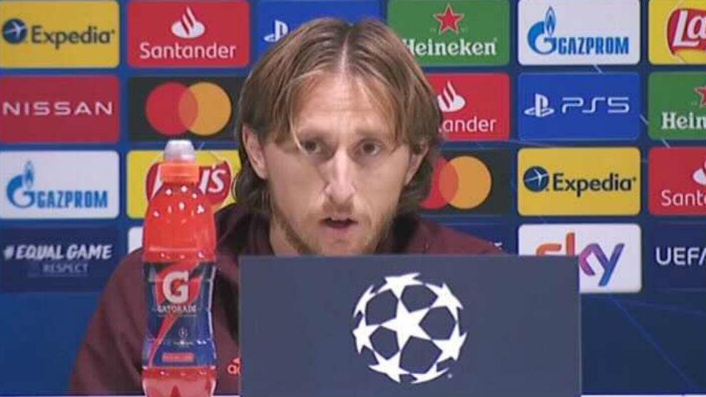 Luka Modric, en la rueda de prensa previa al partido ante el Inter