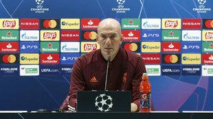 Zinedine Zidane, en la rueda de prensa previa al duelo ante el Inter