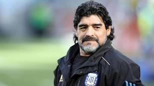 Maradona, en su etapa como seleccionador de Argentina