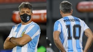 Renato, con la 10 de Maradona.
