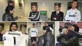 Así se conocieron Maradona y Cristiano Ronaldo.
