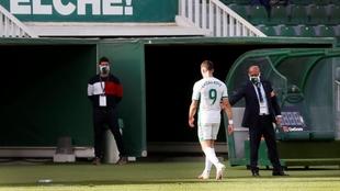 Lucas Boyé, en el partido del Elche contra el Cádiz.