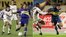 Riquelme, en una acción en el partido de Boca contra el Real Madrid...