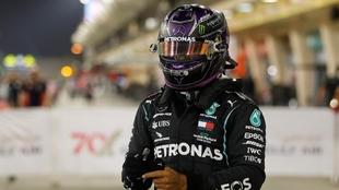 Lewis Hamilton, en el GP de Bahréin.