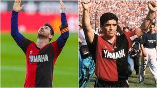 Messi festejo Maradona