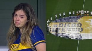 Dalma estuvo en La Bombonera y se emocionó antes los homenajes a su...