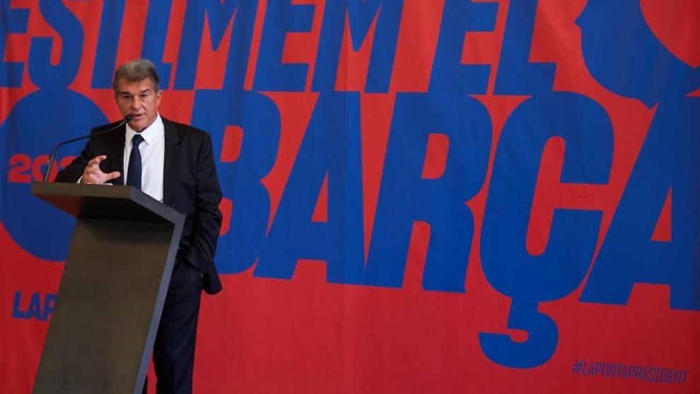 Joan Laporta explicó su plan si es presidente del Barcelona.