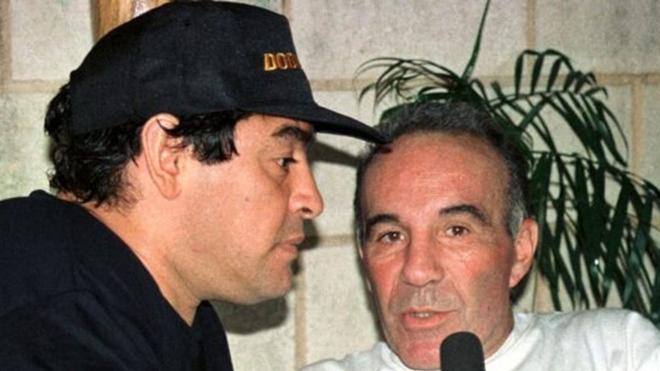 Diego Maradona junto a Alfredo Cahe