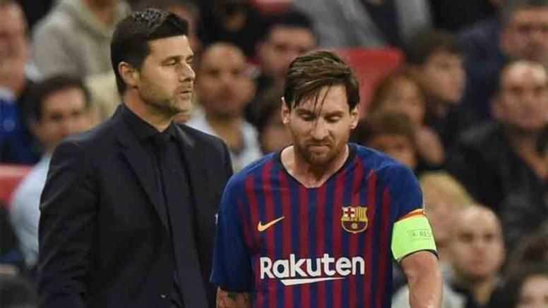 Pochettino, durante un Tottenham vs Barcelona.