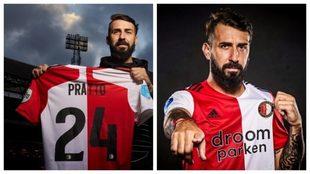Pratto y su nuevo número en el Feyenoord: usará el 24.