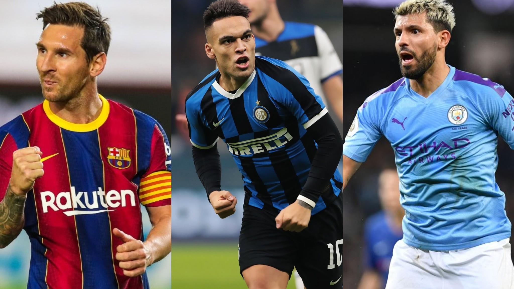 Messi, Lautaro y Agüero empezaron con triunfos.