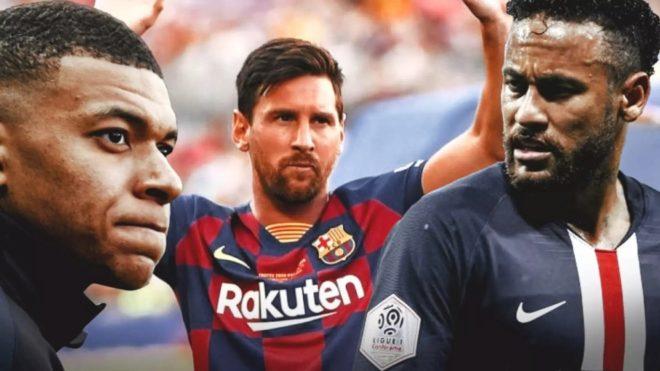 Mbappé, Messi y Neymar.