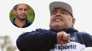 Maradona y el cirujano Yamil Ponce.