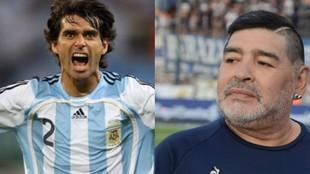 Ayala recordó a Maradona.