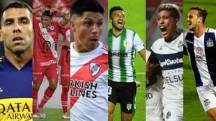 Boca, River, Argentinos por el Grupo A; Banfield, Talleres y Gimnasia,...