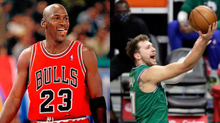 Luka Doncic ya roza la leyenda de Michael Jordan a ritmo de...