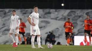 Luka Jovic, durante un partido del Real Madrid