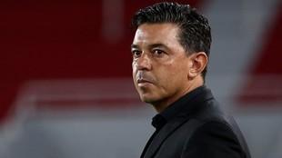 Marcelo Gallardo,durante un partido con River