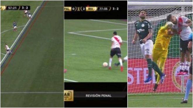Las polémicas del Palmeiras vs River Plate