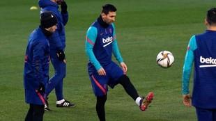 Leo Messi se prepara para la Supercopa de España