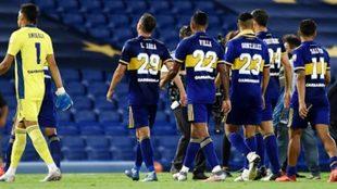 Boca cayó con todo en Santos.