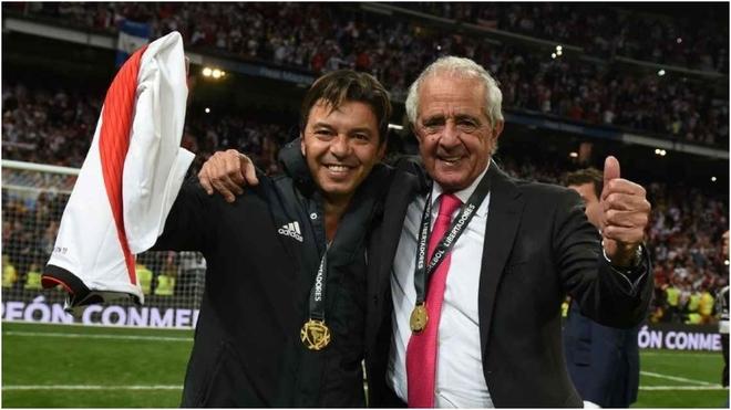 Gallardo y D'Onofrio, la noche que River le ganó a Boca en el Santiago Bernabéu.