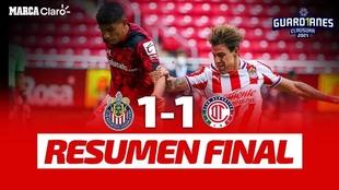 Chivas y Toluca empatan en partido de la jornada 2 de la Liga MX