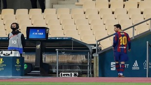 Supercopa de España: Leo Messi fue expulsado