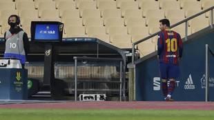 Supercopa de España: Leo Messi fue expulsado ante Athletic Club