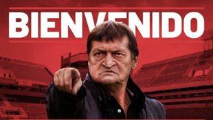 Falcioni en Independiente.