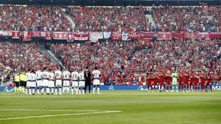 Tottenham y Liverpool, antes de la final de la Champions de 2019 en...