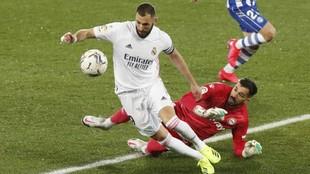 Benzema fue uno de los goleadores del partido.