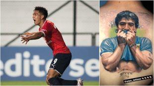 Alan Velasco y su cariño por Diego Maradona