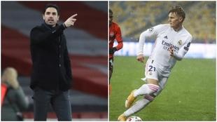Arteta, técnico del Arsenal, y Odegaard, jugador del Real Madrid.