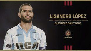 Atlanta United presenta a Lisandro López