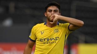 El 'Pity' festeja un gol con el Al-Nassr.