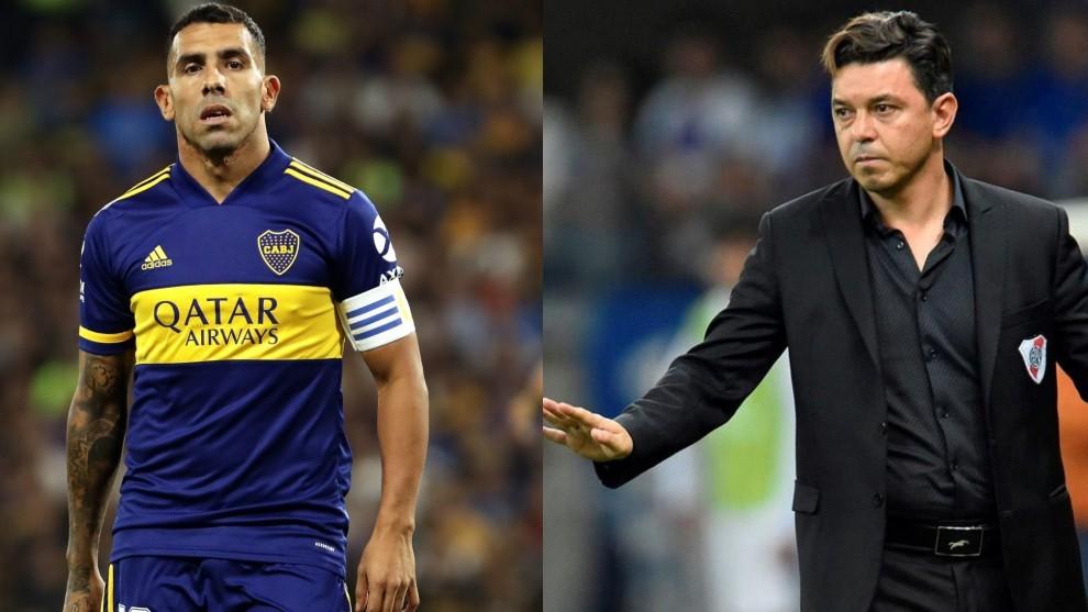 Carlos Tevez y Marcelo Gallardo, los protagonistas.