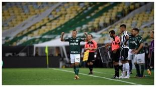 Breno Lopes marcó el gol del título para Palmeiras en la Copa...