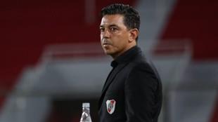 Marcelo Gallardo, en un partido de River