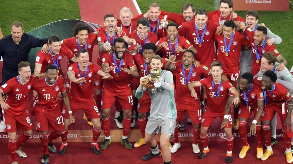 Bayern celebra su último título.