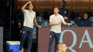 Mariano Messera mostró su enojo por el tiro libre de Cardona