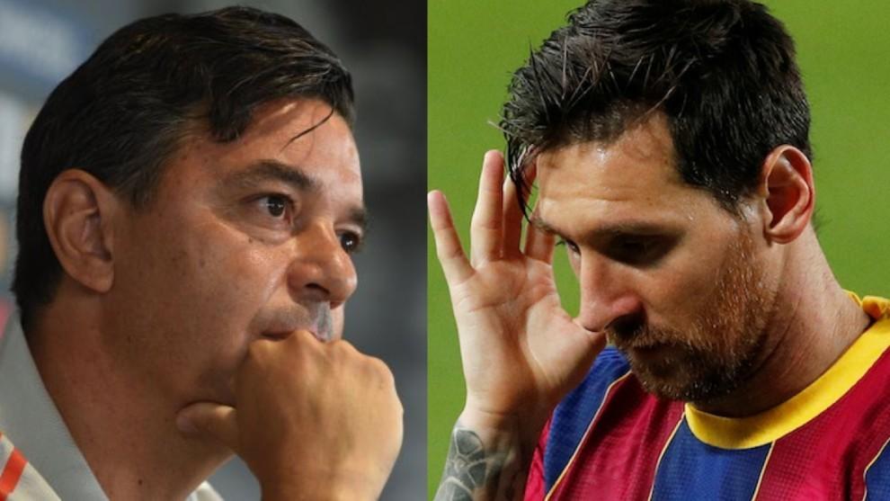 Marcelo Gallardo y Leo Messi.