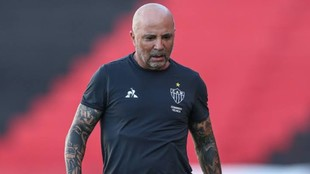 Jorge Sampaoli, durante un partido del Mineiro.