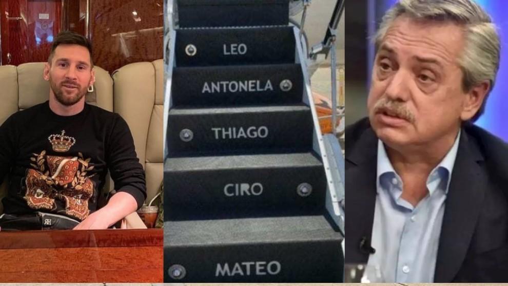 Leo Messi le alquiló su avión al presidente argentino.