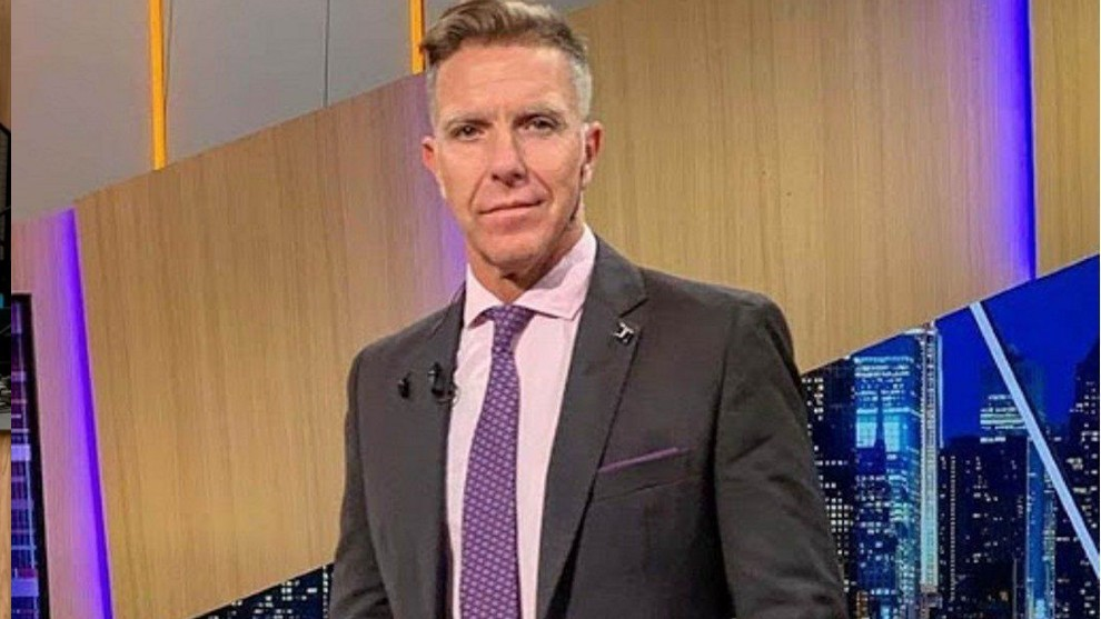 Aljenadro Fantino, durante un programa.