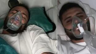 Neymar e Icardi en un tratamiento de oxigenoterapia.