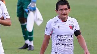 Pulga Rodríguez, con la camiseta de Colón