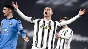 Cristiano Ronaldo, en el partido ante el Spezia