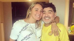 Rocío Oliva junto a Diego Armando Maradona