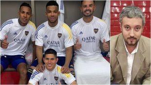 Los colombianos de Boca y el periodista que hizo los comentarios...